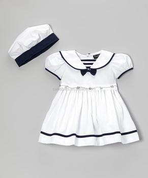 Z Kinderkleding.Koreaanse Stijl Witte Baby Kleding Met Hoed Matrozenpakje Thailand