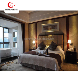 wholesale 5 star luxury wood bed room hotel bedroom furniture set for sale