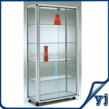 cabinet tall display glass home furniture brilliant storage living room doors