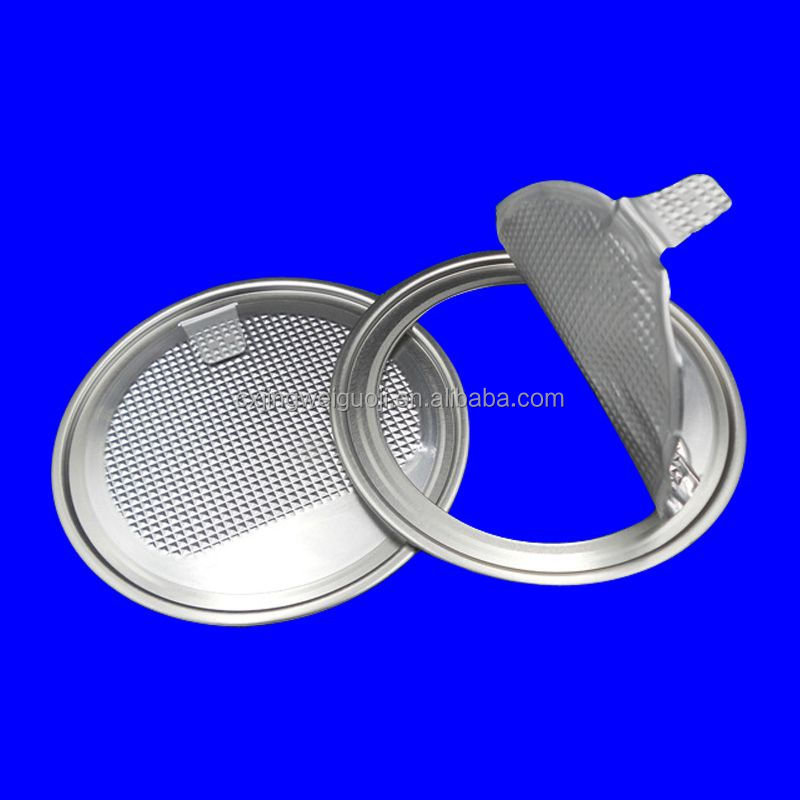 #307 D type easy open aluminium foil can lid