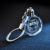 Hot sales 3d laser engraving crystal glass keychain k9 blank laser engraving keychain