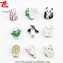 Custom made animals slider european charms beads jewelry for woman