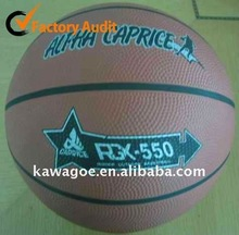 Official size 6 rubber basketball