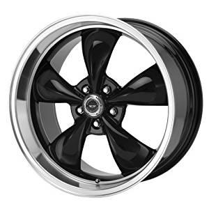 American Racing Custom Wheels AR105 Torq Thrust M Gloss Black Wheel With Machined Lip (17x9/5x120.7mm, +45mm offset) by American Racing
