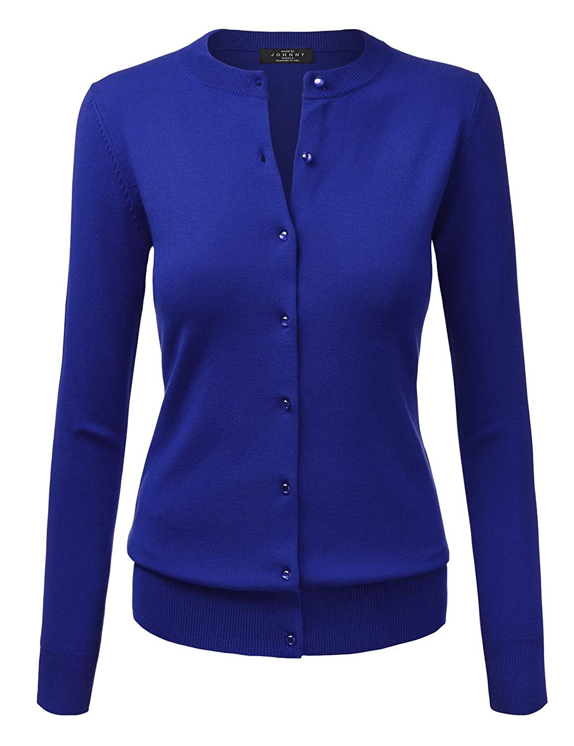 085e5f4db9af Get Quotations · Come Together California WSK781 Womens Keep It Classic  Round Cardigan XXL Royal Blue