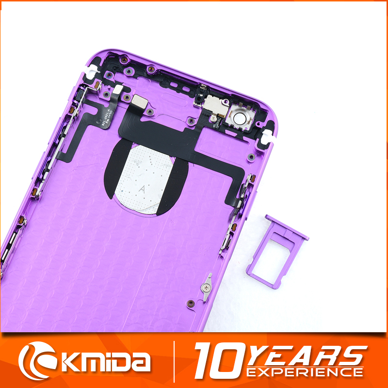 Replacement full back cover housing For iPhone 6 6s 6s plus violet, violet chassis for iPhone 6