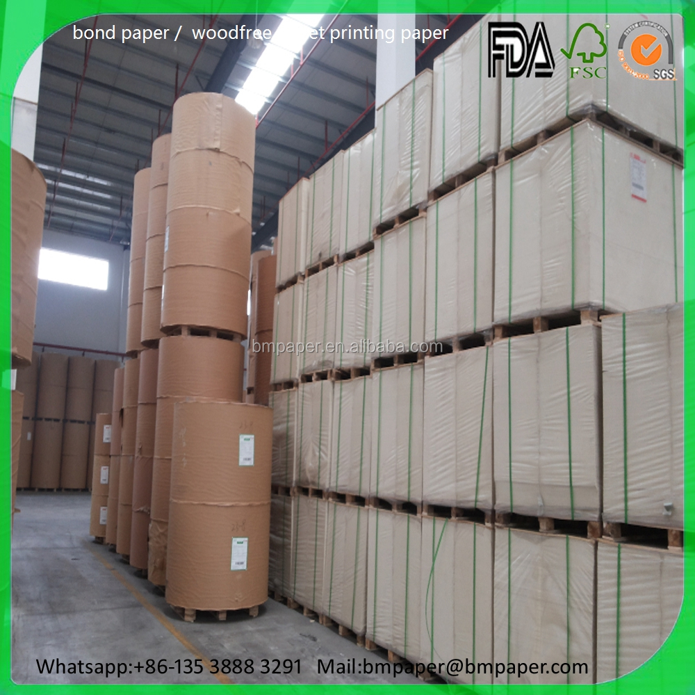certificate printing paper snow white offset paper