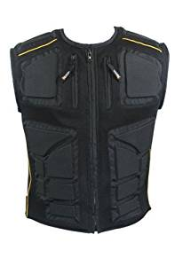 Xelement CF244 Mens Black Padded Tri-Tex Fabric and Mesh Vest - 5X-Large
