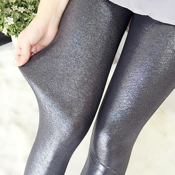 Glitter Brillante Argento Leggings