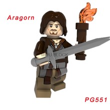 Для Властелина Колец фигурки Арвен билбо бомбур Фродо Гэндальф Галадриэль Арагон Beorn Saruman строительные блоки(Китай)