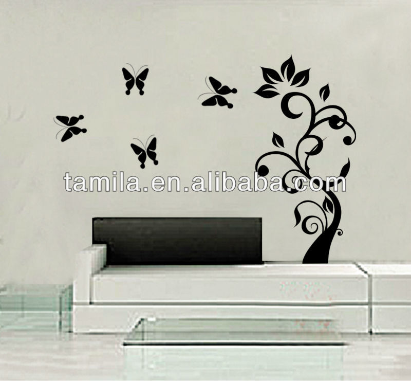 wall sticker butterfly tree home decorative decal - buy home decor