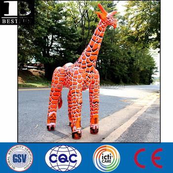 Attractive Lifelike Realistic Giant Inflatable Giraffe 6 Ft
