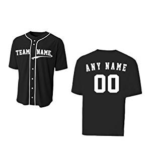 963327c6475 Baseball Full Button CUSTOM or Blank Wicking Jersey (8 Uniform Colors in 10  Youth