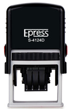 Epress Custom Self Inking Rubber Stamp - Home or Office (S-4124D with 2 Colors Ink Pad)