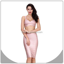 2014 women sexy evening party wholesale two piece prom club dresses