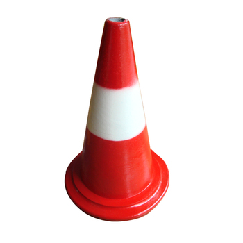Rubber 380mm Traffic Road Safety Cone Traffic Equipment