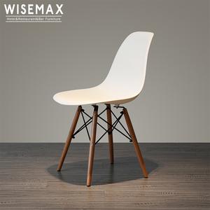 Best price modern italian design office restaurant living room armless dining PP resin plastic chair for sale