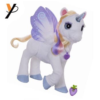 Beautiful Long Hair Plush Wing Unicorn Toys For Girls Buy Unicorn