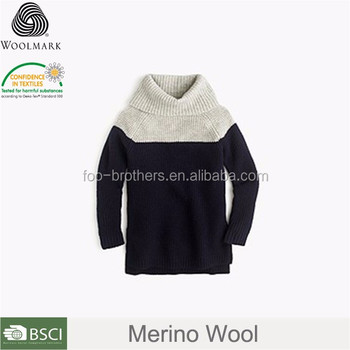 0a45131ffa49 High neck kids sweater knitting sweaters