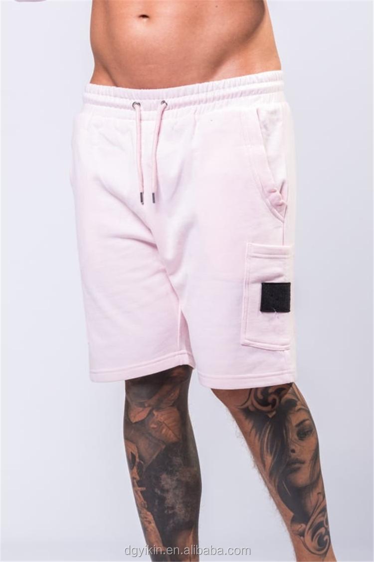 39455dfceba9 summer men stylish pink cargo pants solid color capri pants sexy men shorts