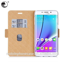 Factory Supply Assorted Color classic Mobile Phone Case For Samsung S6 edge with card slot