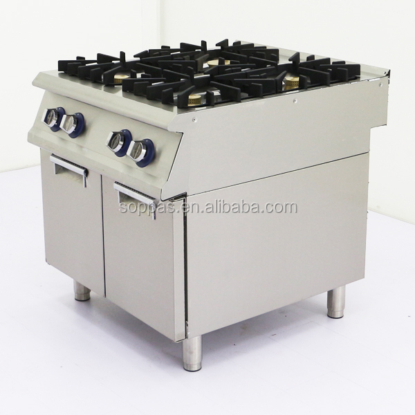 commercial cooktop 4 burner best gas cooker factory