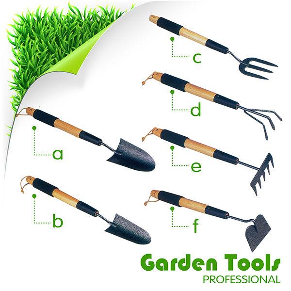 6pcs Garden Hand Tools Set With Wooden Handle Buy Garden Tools
