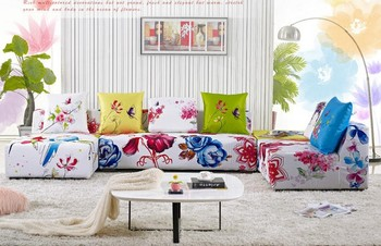 Delicieux Livingroom Furniture Flower Print Fabric Sofa S11