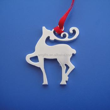 Promotional Deer Shape Metal Christmas Tree Decoration Hanging