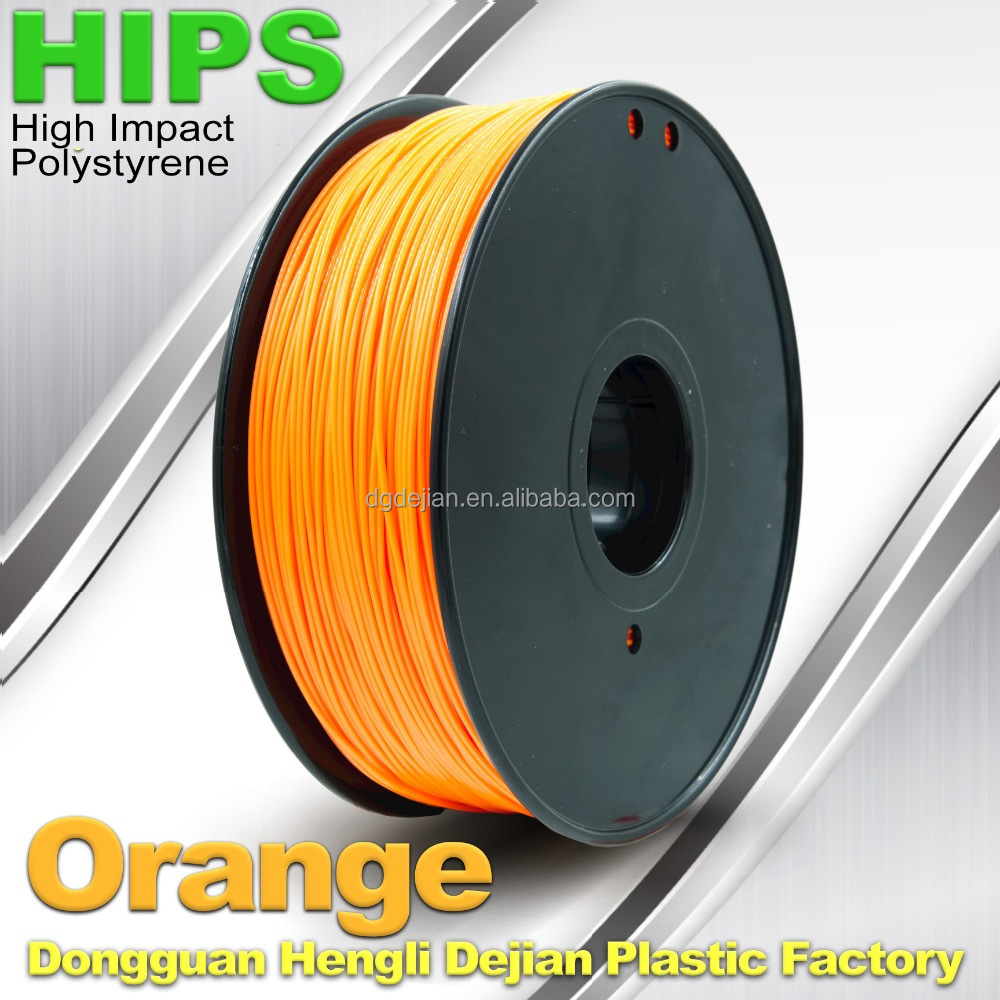 HIPS 3D printer filament 3mm 1.75 <strong>Orange</strong>