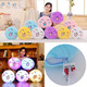 New Pattern Creative Colorful Glow Round Smiling Face Pillow