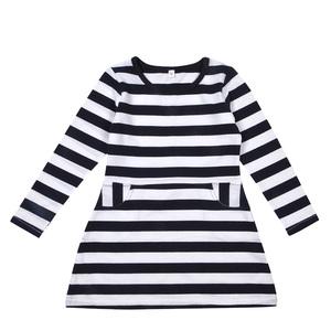 OEM Welcome Petelulu Children Clothes Girls Uniforms Black White Strip Dress