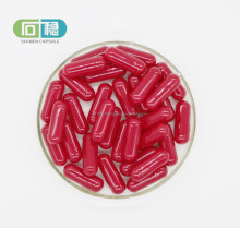 vigorous red empty hard gelatin capsules