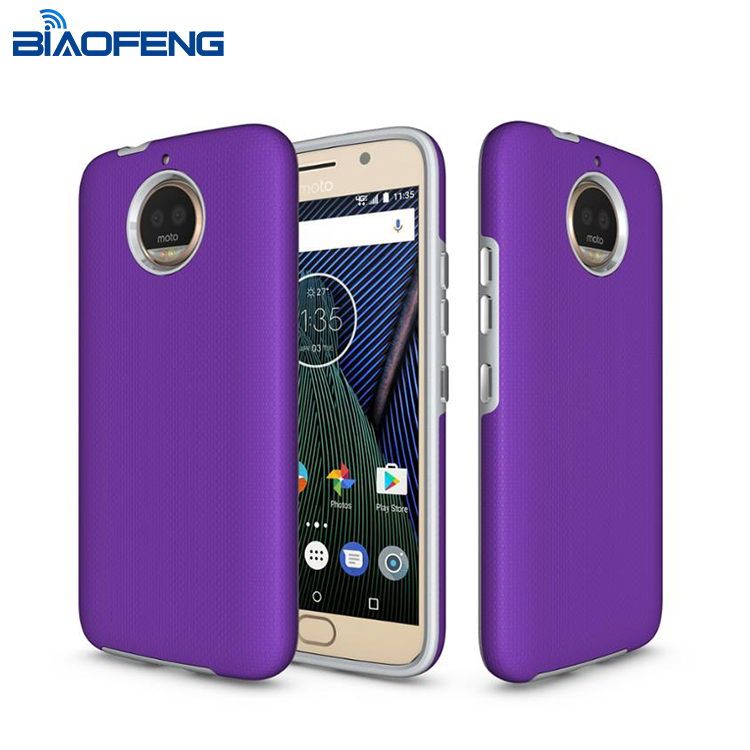 New products 2017 Mobile Phone Accessories Dual Layers Combo Antiskid Phone case for Moto G5s