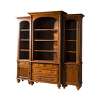 Wholesale antique corner bookcase wooden furniture