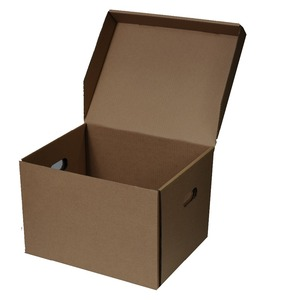 Decorative file storage box with handle holes for office, bank to put inner box or document packing