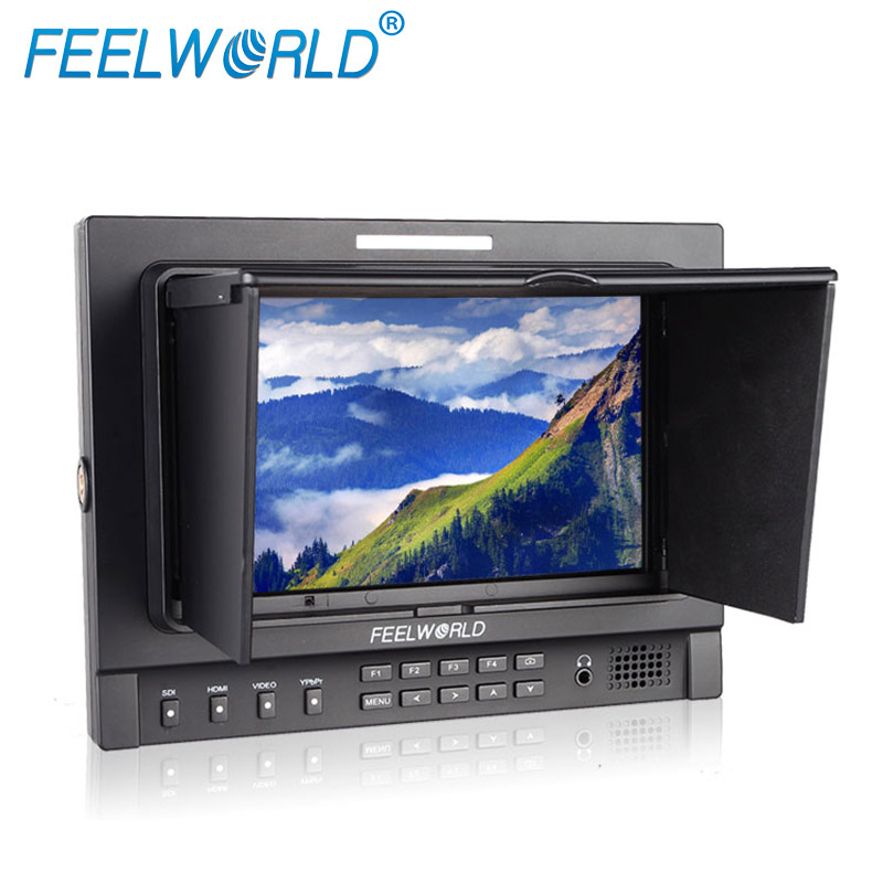 1280x800 resolution led lcd filed monitor IPS panel dual 3G-SDI HDMI sunshade F970 plate include 7 inch camera mini display