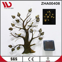 New design metal wall hangings with solar led light