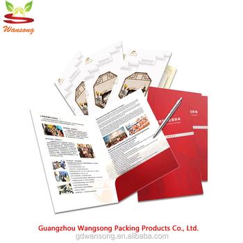 China supplier high quality a4 size custom paper cardboard brochure china supplier high quality a4 size custom paper cardboard brochure and business card slot paper presentatin colourmoves