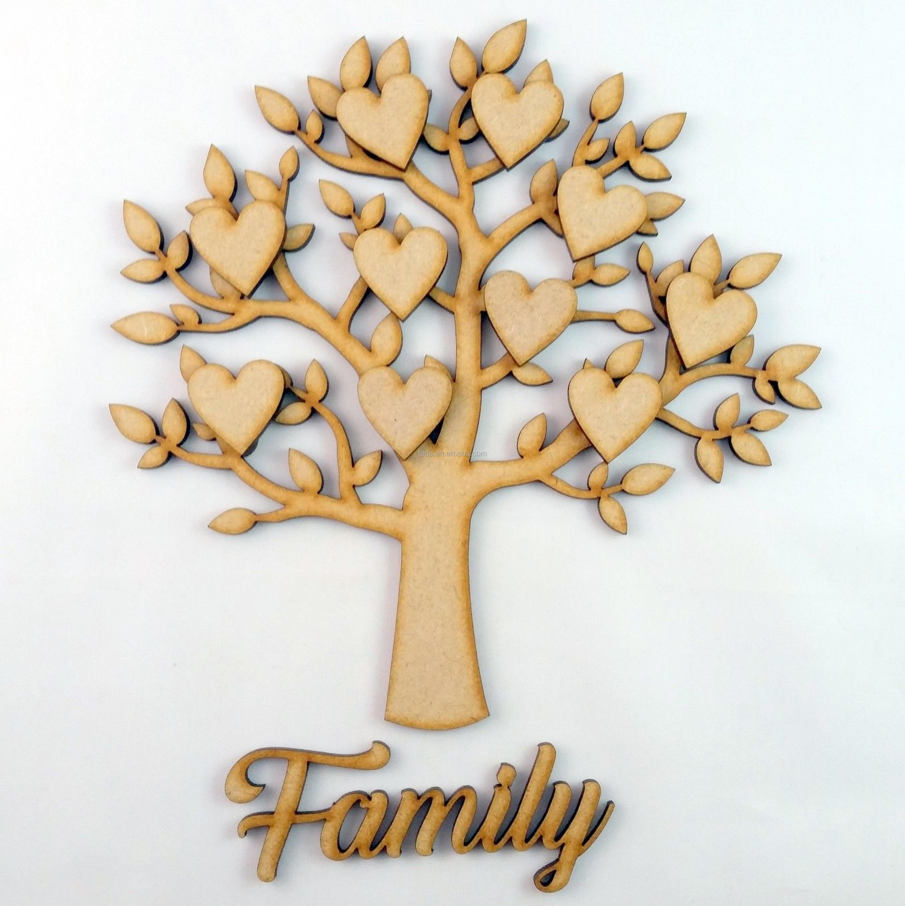 wholesale carved wooden family tree Christmas decoration