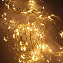 Fashion design indoor decoration low power consume christmas outdoor battery fairy led copper string light