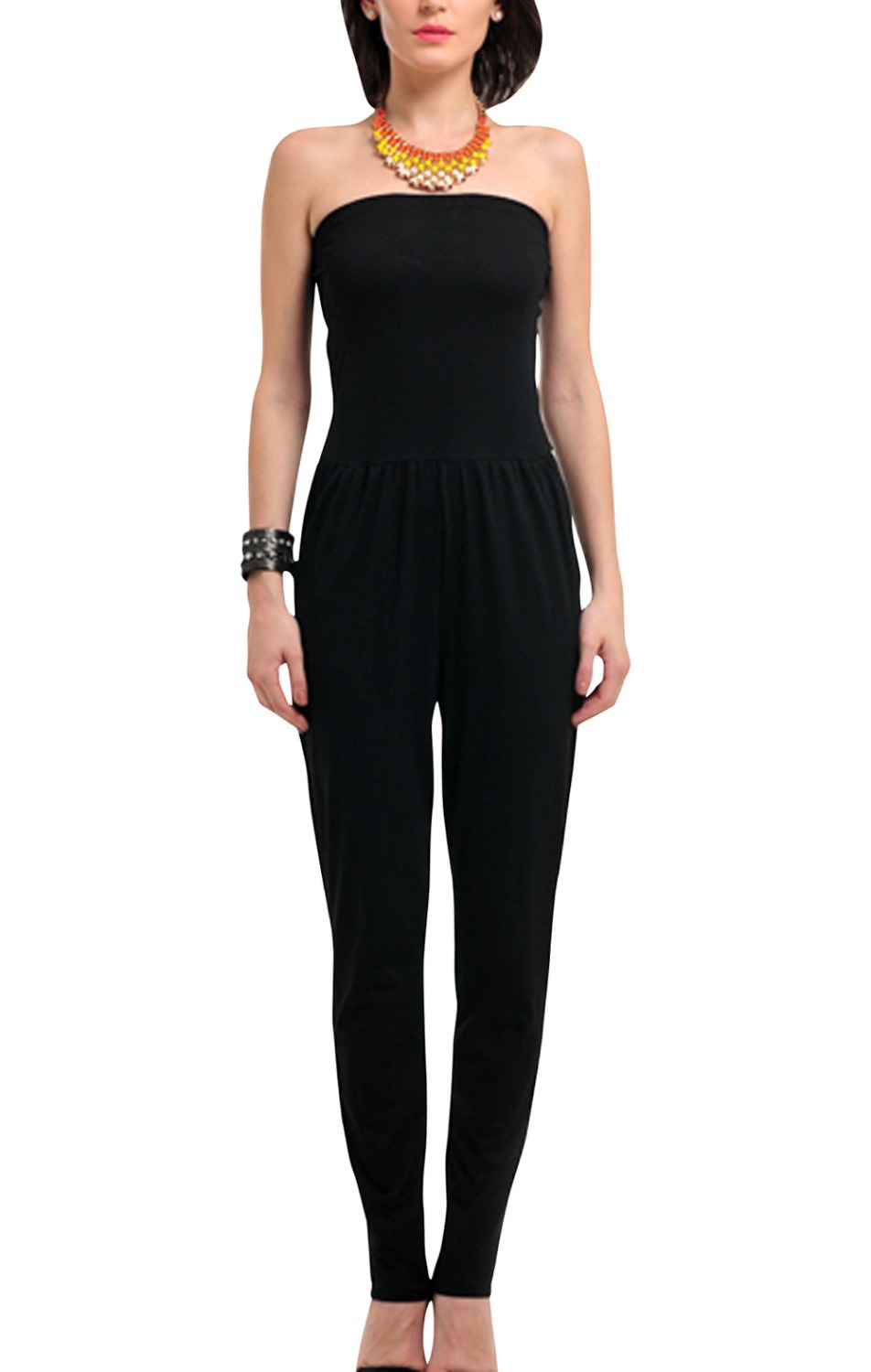 Women's Strapless Jumpsuit Black Skinny on Aliexpress.com ...
