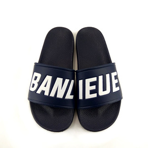 Greenshoe flat beach sandal shoes,latest design mens pvc sandals custom slides,custom logo men slide sandals