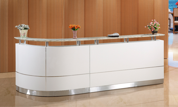 Used Hospital Curved Reception Desk