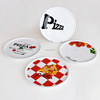 2017 promotional ceramic cheap pizza plate with decal printing