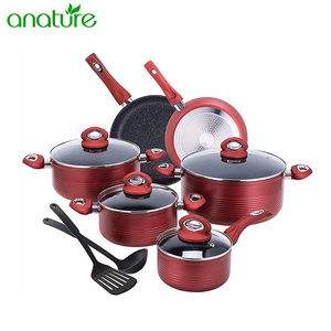 Elegant Italian Cooking 19pcs Cookwre Set with Marble Coating