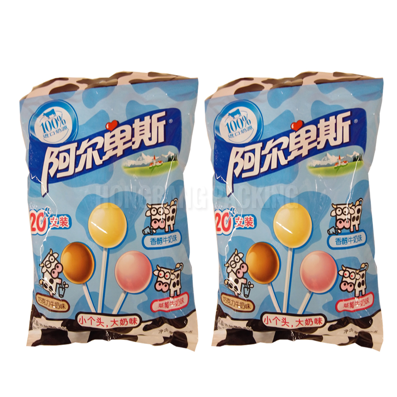 China suppliers cheap custom printing mylar foil candy pouch lollipop candy bags