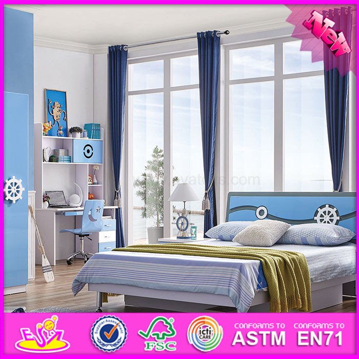 2016 wholesale cheap wooden kids furniture bedroom W08H042