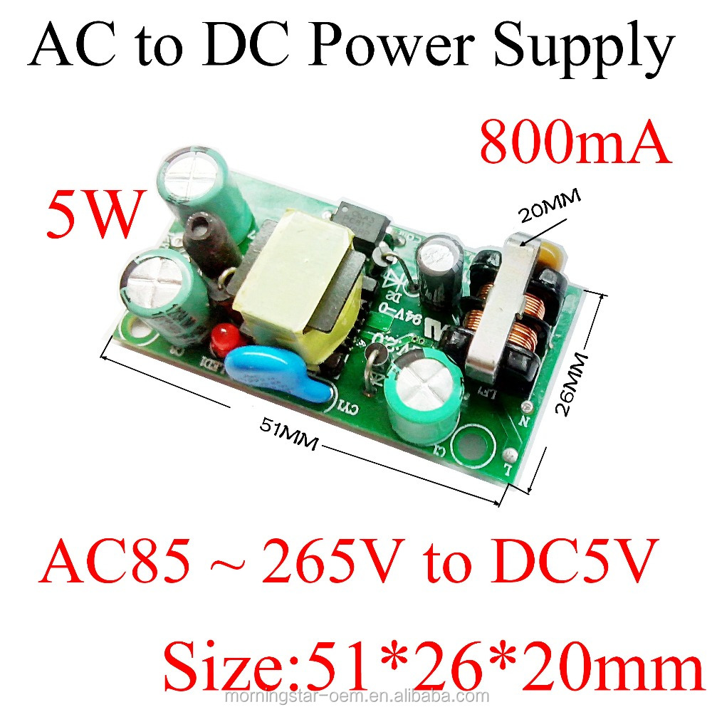 AC to DC step down converter 5V 800mA Switching power supply module AC110V/220V to DC5V adapter Adapter built-in module/ Monitor