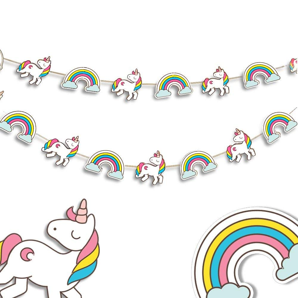 Unicorn party supplies - Baby Shower decorations - Party decorations - Birthday party supplies - Birthday decorations - Paper garland - Unicorn Garland - Nursery Decor